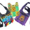 Shoulder Bags Hippy Flower Owl Purple Green Yellow