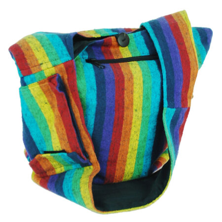 Rainbow Bag with Zip and Pocket