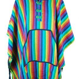 Nepalese Rainbow Poncho