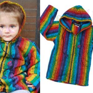 Children Rainbow Hoody with zip