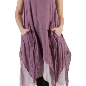 Layered Dress No Sleeves Purple