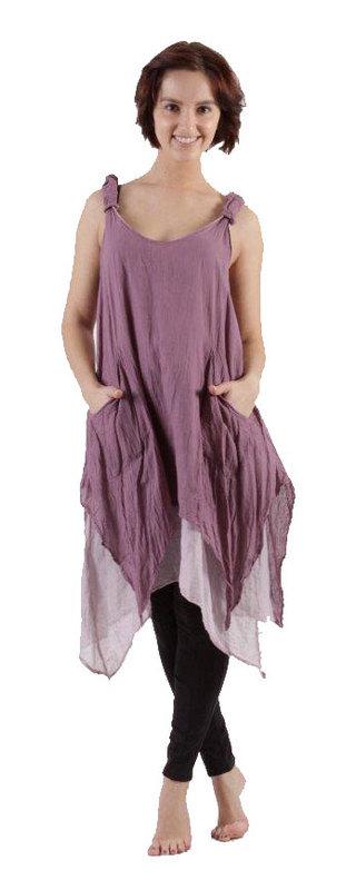 Layered Dress No Sleeves Purple