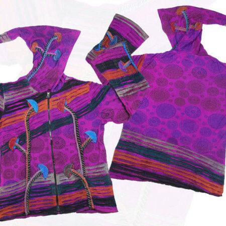 Pixie Hood Purple Top Hoody