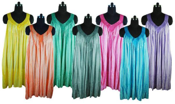 Strappy Sun Dress V Neck Colours