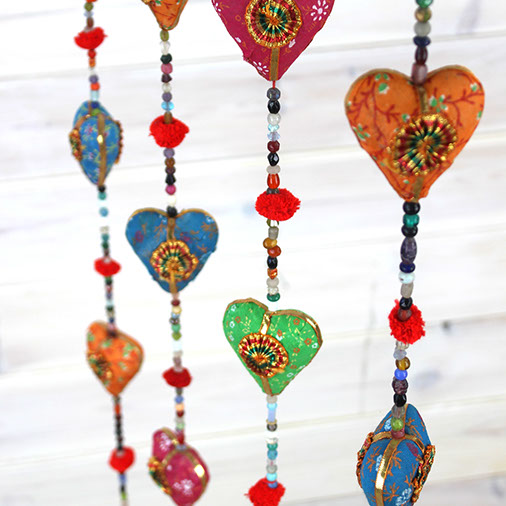Rainbow Hearts Mobile Decoration Gift