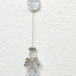 Crystal Guardian Angel Suncatcher, Clear