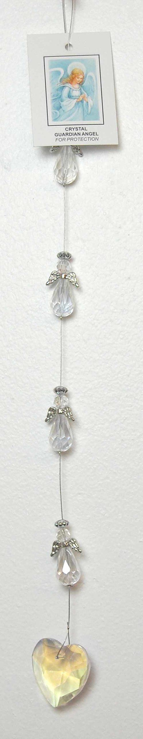 Quartz Angels with Quartz Heart Decoration Gift