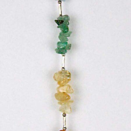 Chakra precious stones handing decoration with quartz heart