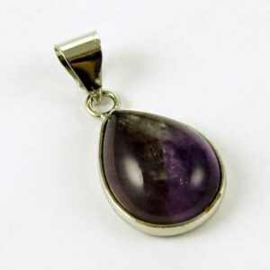 Precious Stone Neckless Teardrop Purple Amethyst