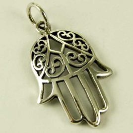 Sterling Silver Pendant Fatima Hand