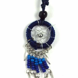 Dream Catcher Neckless with Feathers Purple Blue