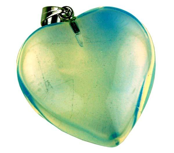 Precious Stone Neckless Blue Heart Quartz