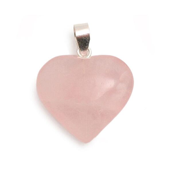 Precious Stone Neckless Rose Quartz Heart