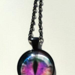 Cabachon Neckless Jewelry Rainbow Eye