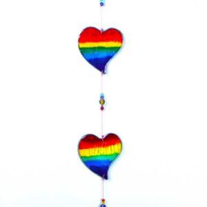 Sun Catcher Rainbow Love Heart