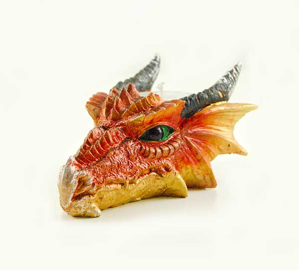 Dragon Head Tea Light Holder Orange