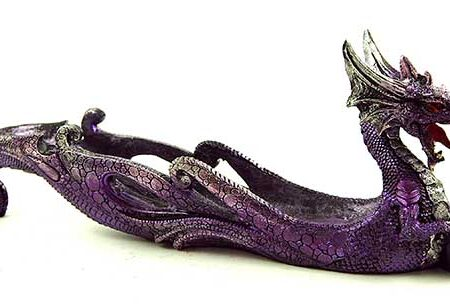 Dragon Incense Holder Purple