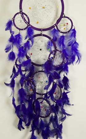 Purple Coloured Dream Catcher with Feathers