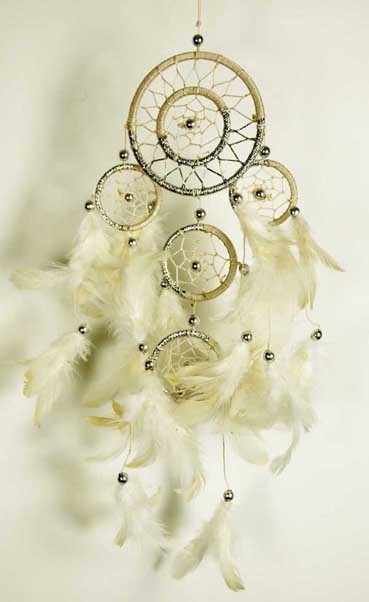 Natural Coloured Dream Catcher with Feathers Fair Trade
