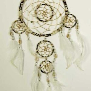 Natural Coloured Dream Catcher with Feathers
