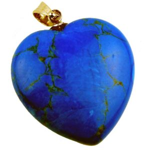 Precious Stone Neckless Blue Heart