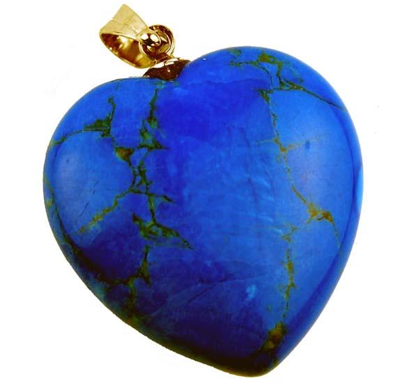 Precious Stone Neckless Blue Heart