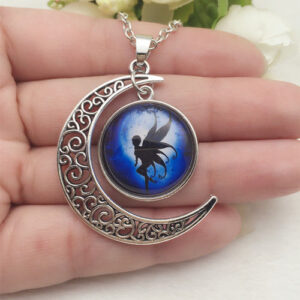 Cabachon Neckless Jewelry Blue Fairy