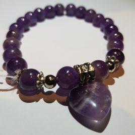 Bracelet Amethyst, Heart