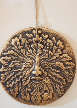 Green Man Plaque Decoration