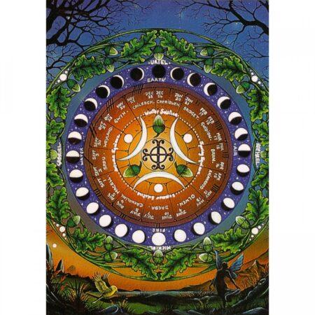 Moon Calendar Greeting Gift Card
