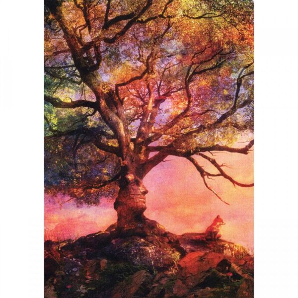 Tree Free Greeting Gift Card Sunset Fox Mountain