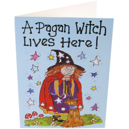 Greeting Card A Pagan Witch Lives Here