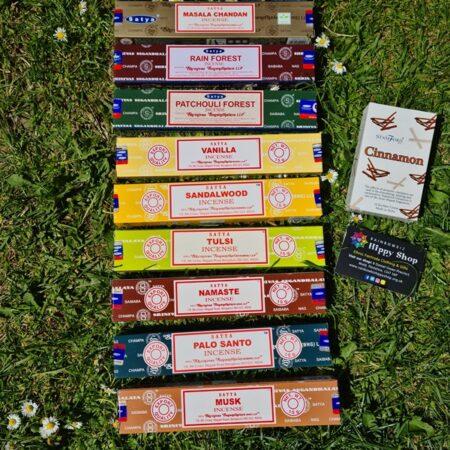 Gift Set Satya Incense Sticks Wood Musk Mix