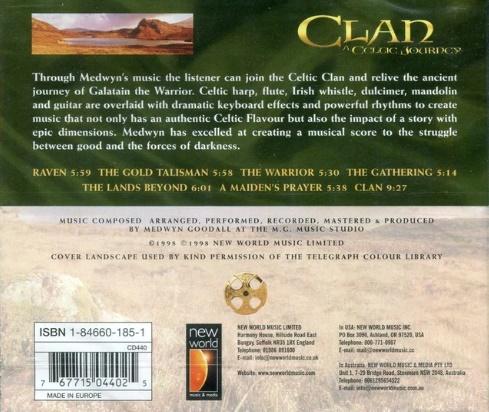 CD Clan A Celtic Journey Medwyn Goodall