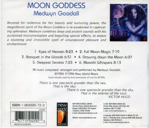 CD Moon Goddess Medwyn Goodall New World Music