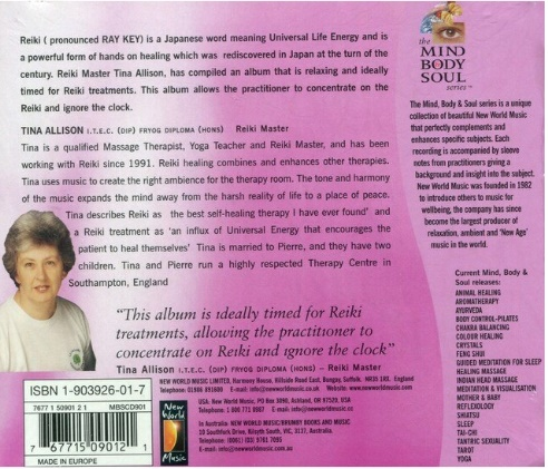 CD Reiki Music For Healing Mind Body Soul