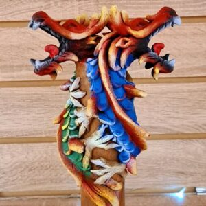 Colourful Dragon Incense Ashcatcher Double Red Green Blue