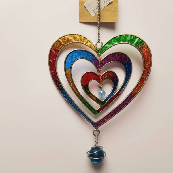 Glitter Heart 3D Suncatcher