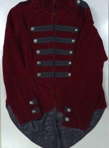 Gothic Military Velvet Jacket Red