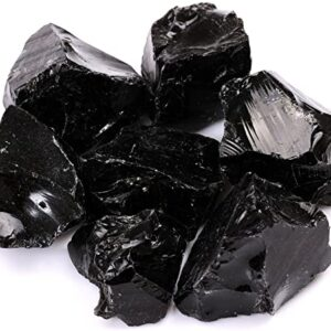 Crystal Gem Rough Black Obsidian