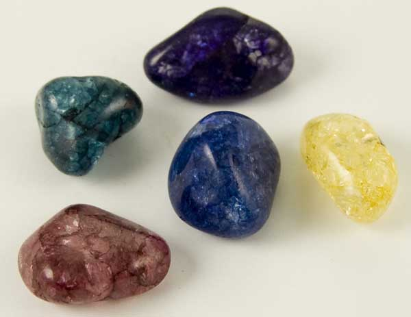 Crystal Gem Tumblestone Cracked Quartz