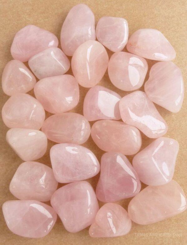 Crystal Gem Tumblestone Large Rose Quartz