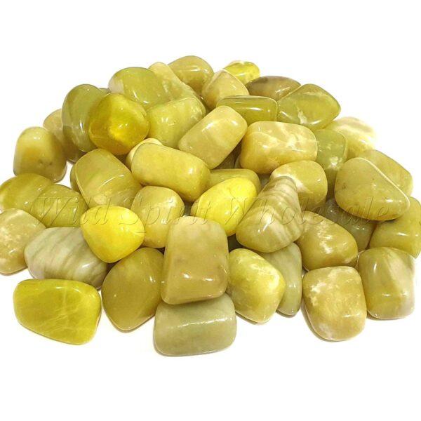 Crystal Gem Tumblestone Lemon Jade