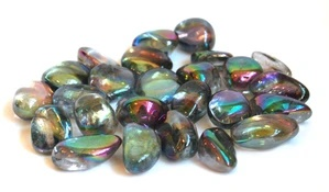 Crystal Gem Tumblestone Rainbow Aura