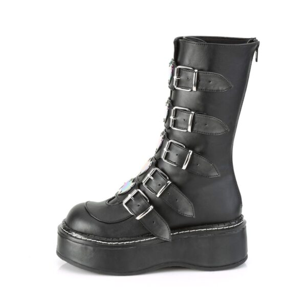 Demonia Boots Emily 330 Black Buckle Vegan Cool