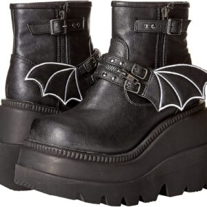 Demonia Boots Shaker 55 Black Bat Vegan Ankle