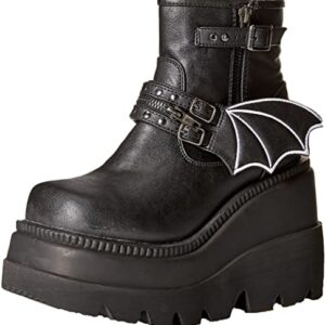 Demonia Boots Shaker 55 Black Bat Vegan Ankle Cool
