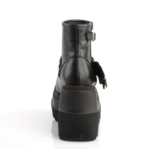 Demonia Boots Shaker 55 Black Bat Vegan Ankle Funky