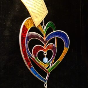 Suncatcher Rainbow Heart Pretty