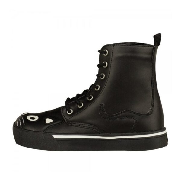 TUK Shoes Black Kitty Combat Boot Sneaker Cute